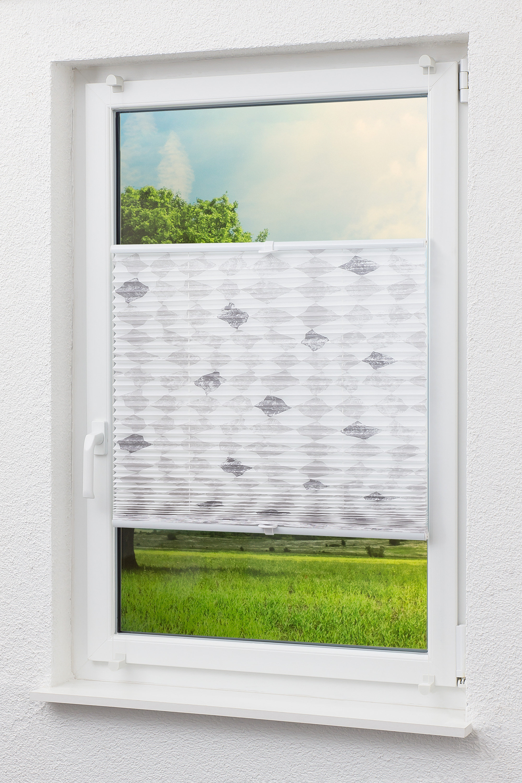 cleverfix dekor plissee rautenmotiv 0b. Black Bedroom Furniture Sets. Home Design Ideas